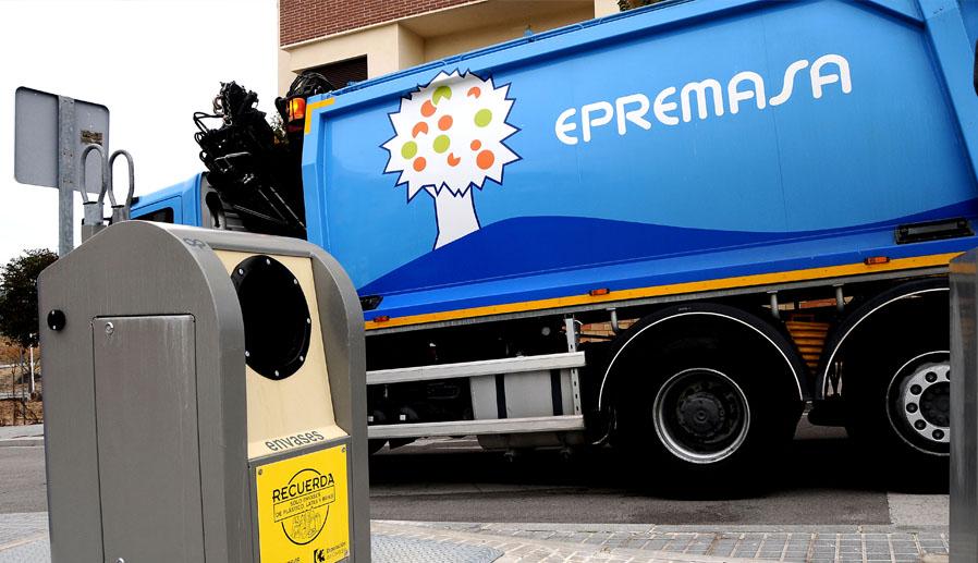 Camión de Epremasa. Extinfenix empresa extintores Málaga