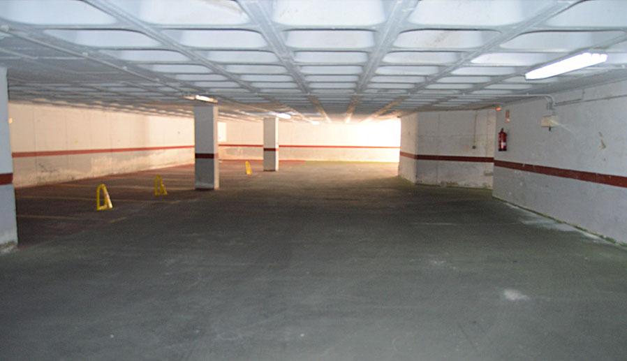 Vista del parking. Extinfenix empresa extintores Málaga